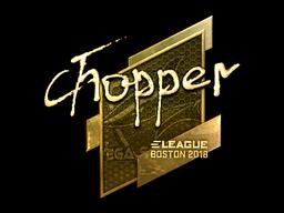 Sticker | chopper (Gold) | Boston 2018