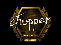 Sticker | chopper (Gold) | London 2018