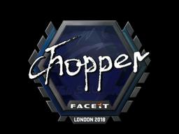 Sticker | chopper | London 2018