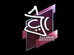 Sticker | chrisJ (Foil) | Boston 2018