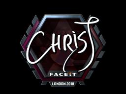 Sticker | chrisJ (Foil) | London 2018