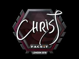 Sticker | chrisJ | London 2018