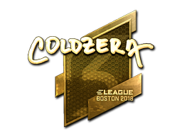 Sticker | coldzera (Gold) | Boston 2018