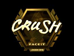 Sticker | crush (Gold) | London 2018
