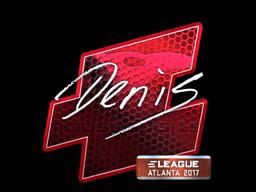 Sticker | denis (Foil) | Atlanta 2017