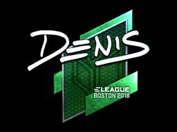 Sticker | denis (Foil) | Boston 2018