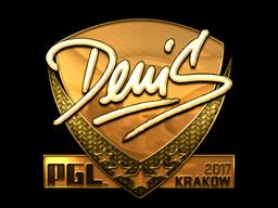 Sticker | denis (Gold) | Krakow 2017