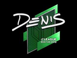 Sticker | denis | Boston 2018