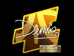 Sticker | dennis (Foil) | Atlanta 2017