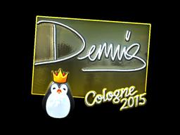 Sticker | dennis (Foil) | Cologne 2015