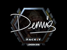 Sticker | dennis (Foil) | London 2018