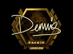 Sticker | dennis (Gold) | London 2018