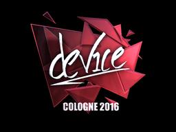 Sticker | device (Foil) | Cologne 2016