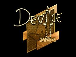Sticker | device (Gold) | Boston 2018