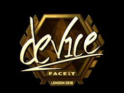 Sticker | device (Gold) | London 2018