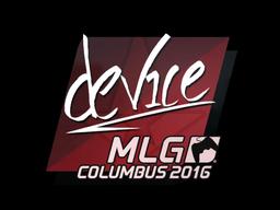 Sticker | device | MLG Columbus 2016