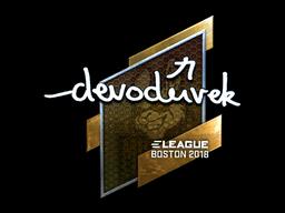 Sticker | devoduvek (Foil) | Boston 2018
