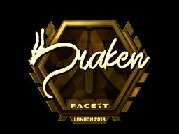 Sticker | draken (Gold) | London 2018