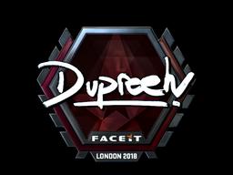 Sticker | dupreeh (Foil) | London 2018
