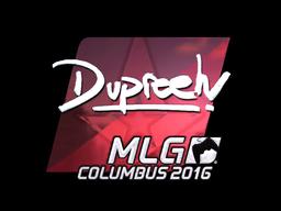 Sticker | dupreeh (Foil) | MLG Columbus 2016
