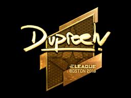 Sticker | dupreeh (Gold) | Boston 2018
