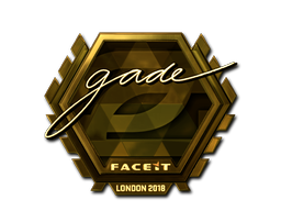 Sticker | gade (Gold) | London 2018