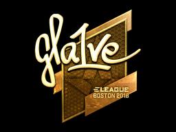 Sticker | gla1ve (Gold) | Boston 2018