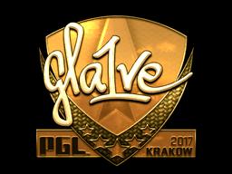Sticker | gla1ve (Gold) | Krakow 2017