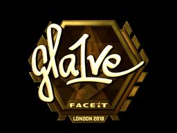 Sticker | gla1ve (Gold) | London 2018