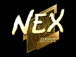 Sticker | nex (Gold) | Boston 2018