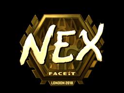 Sticker | nex (Gold) | London 2018