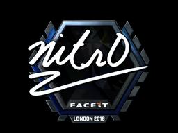 Sticker | nitr0 (Foil) | London 2018