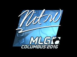 Sticker   nitr0 (Foil)   MLG Columbus 2016