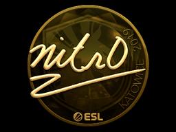 Sticker | nitr0 (Gold) | Katowice 2019