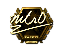 Sticker | nitr0 (Gold) | London 2018