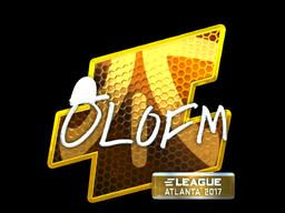 Sticker | olofmeister (Foil) | Atlanta 2017