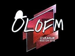 Sticker | olofmeister (Foil) | Boston 2018