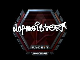 Sticker | olofmeister (Foil) | London 2018