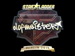 Sticker | olofmeister (Gold) | Berlin 2019