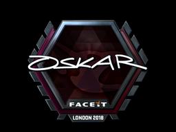 Sticker | oskar (Foil) | London 2018