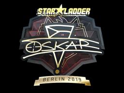 Sticker | oskar (Gold) | Berlin 2019