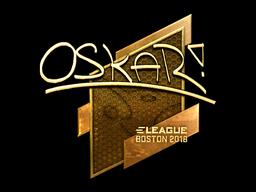 Sticker | oskar (Gold) | Boston 2018