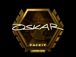 Sticker | oskar (Gold) | London 2018