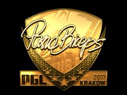 Sticker | pashaBiceps (Gold) | Krakow 2017