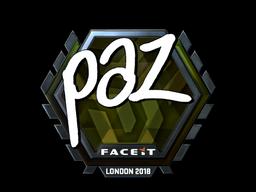 Sticker | paz (Foil) | London 2018