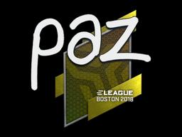 Sticker | paz | Boston 2018