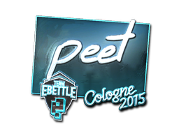Sticker   peet (Foil)   Cologne 2015