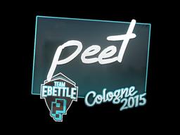 Sticker   peet   Cologne 2015