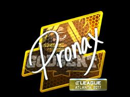 Sticker | pronax (Foil) | Atlanta 2017