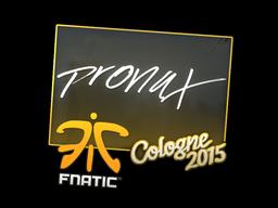 Sticker | pronax | Cologne 2015
